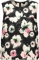Marni Printed cloqué top