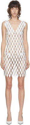 Paco Rabanne White Linked Diamond Disc Dress