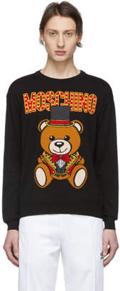 Moschino Black Ring Leader Bear Sweater