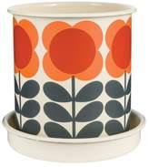 Orla Kiely Big Spot Flower Plant Pot & Saucer Size /