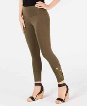 INC International Concepts Inc Lattice Ankle Shaping Leggings, Created for Macy's