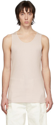 Lemaire Pink Rib Knit Tank Top