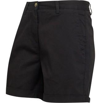 Onfire Womens Twill Chino Shorts Black