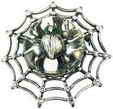 Zeckos Rhinestone Accented Spiderweb & Spider Brooch Pin