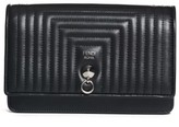 Fendi Women's Quilted Leather Wallet On A Chain - Black