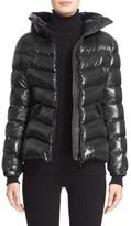 Moncler Women's Anthia Water Resistant Shiny Nylon Hooded Down Puffer Jacket