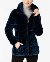 INC International Concepts Velvet Puffer Coat, Created for Macy's