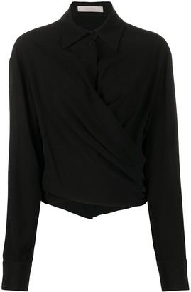 Ssheena Wrap Long Sleeve Shirt