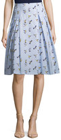 Carolina Herrera Bird-Print Party Skirt