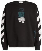 Off-White Dripping Arrows Cotton Sweatshirt