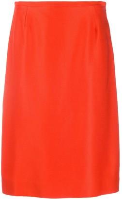 Jean Louis Scherrer Pre Owned 1990's High Waist Midi Skirt
