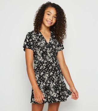 New Look Girls Floral Button Up Tea Dress