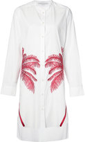 Stella McCartney embroidered palm shirt dress - women - Cotton - 42