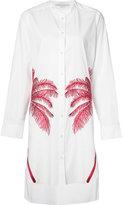 Stella McCartney embroidered palm shirt dress