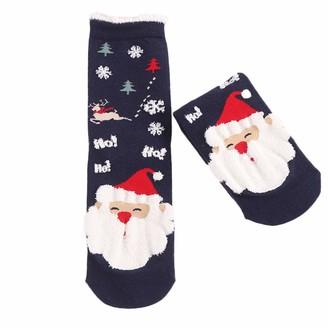 Tuduz Socks TUDUZ Women Funny Cotton Socks Christmas Cute Fun Funky Novelty Socks Multi-Color Thick Warm Socks Women's Winter Socks(E B One Size)