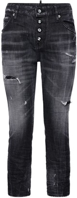 DSQUARED2 Distressed Stretch Cotton Denim Jeans