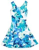 Un Deux Trois Little Girl's & Girl's Peek-Back Watercolor-Print Dress