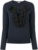 P.A.R.O.S.H. frill embroidered knitted sweater - women - Polyester/Wool - XS