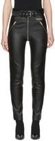 Balenciaga - Pantalon en cuir noir Ri