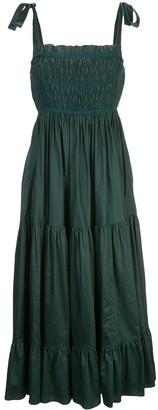 Cynthia Rowley Hailey smocked polished dress