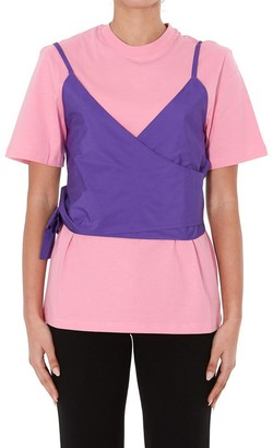 MSGM Layered Bustier T-Shirt