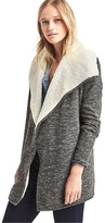 Gap Sherpa-lined spacedye cardigan