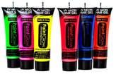 Set of 6 Paintglow UV Hair Gel Pink Blue Orange Red Green Yellow