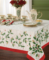 "Lenox Table Linens, Holiday Set of 4 Square Napkins 20"""
