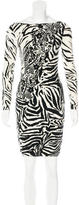 Blumarine Abstract Pattern Mini Dress