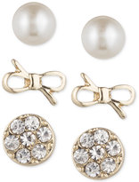 lonna & lilly Gold-Tone Trio Set of Earrings