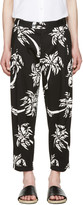 Dolce & Gabbana Black Cropped Palm Trousers