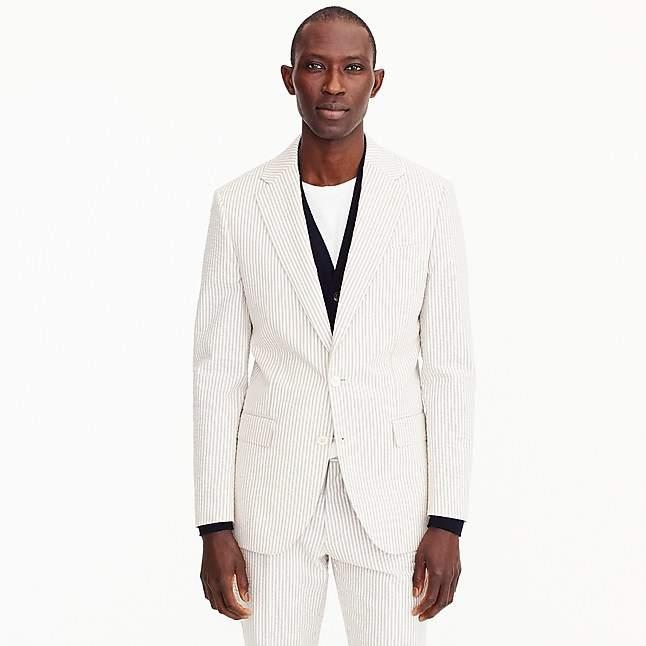 J.Crew Ludlow wide-lapel suit jacket in Japanese seersucker