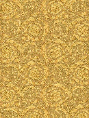 Versace Barocco Flowers Printed Wallpaper