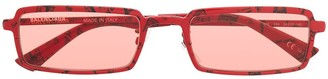 Balenciaga Paris print rectangular-frame sunglasses