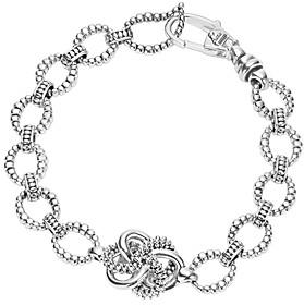 Lagos Sterling Silver Love Knot Link Bracelet