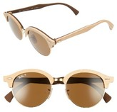 Ray-Ban Women's 51Mm Polarized Round Sunglasses - Gold/ Black