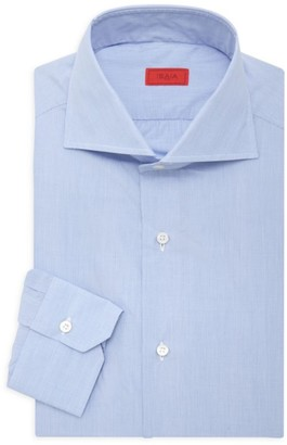 Isaia Micro Effect Dress Shirt