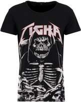Tigha SKULL Print Tshirt black