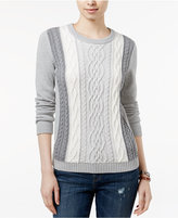 Tommy Hilfiger Lucy Cable-Knit Sweater, Only at Macy's