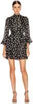 Saloni Marissa Mini Dress in Space Dot & Black | FWRD