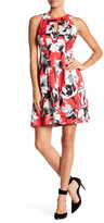 Gabby Skye Floral Fit & Flare Dress