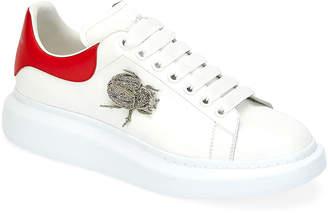 Alexander McQueen Men's Larry Beetle Ornament Platform Sneakers