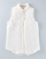 Boden Sleeveless Silk Shirt