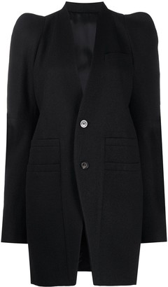 Rick Owens Fitted Single-Breasted Blazer