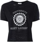 Saint Laurent printed T-shirt - women - Cotton - S