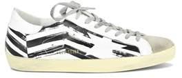 Golden Goose Deluxe Brand Men's White/black Leather Sneakers.