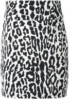 Alexandre Vauthier leopard print mini skirt - women - Polyester/Spandex/Elastane/Viscose - 42