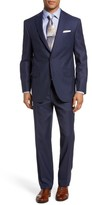 David Donahue Men's Ryan Classic Fit Solid Wool Suit