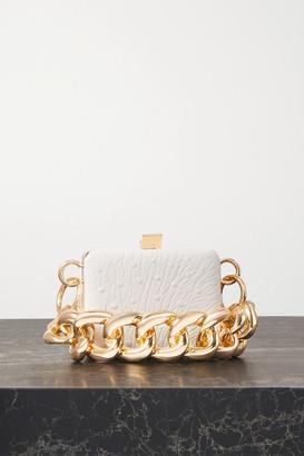 16Arlington Ralphie Mini Ostrich-effect Leather Shoulder Bag - White