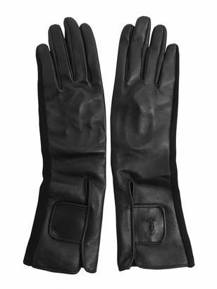 Tru Trussardi Nappa Leather And Knit Gloves